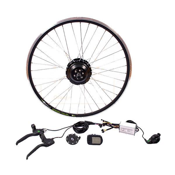 Bikight 36V 250W 26Inch DIY Electric Mountain Bike Modification Motor Front  Wheel Controller Bicycle Kits