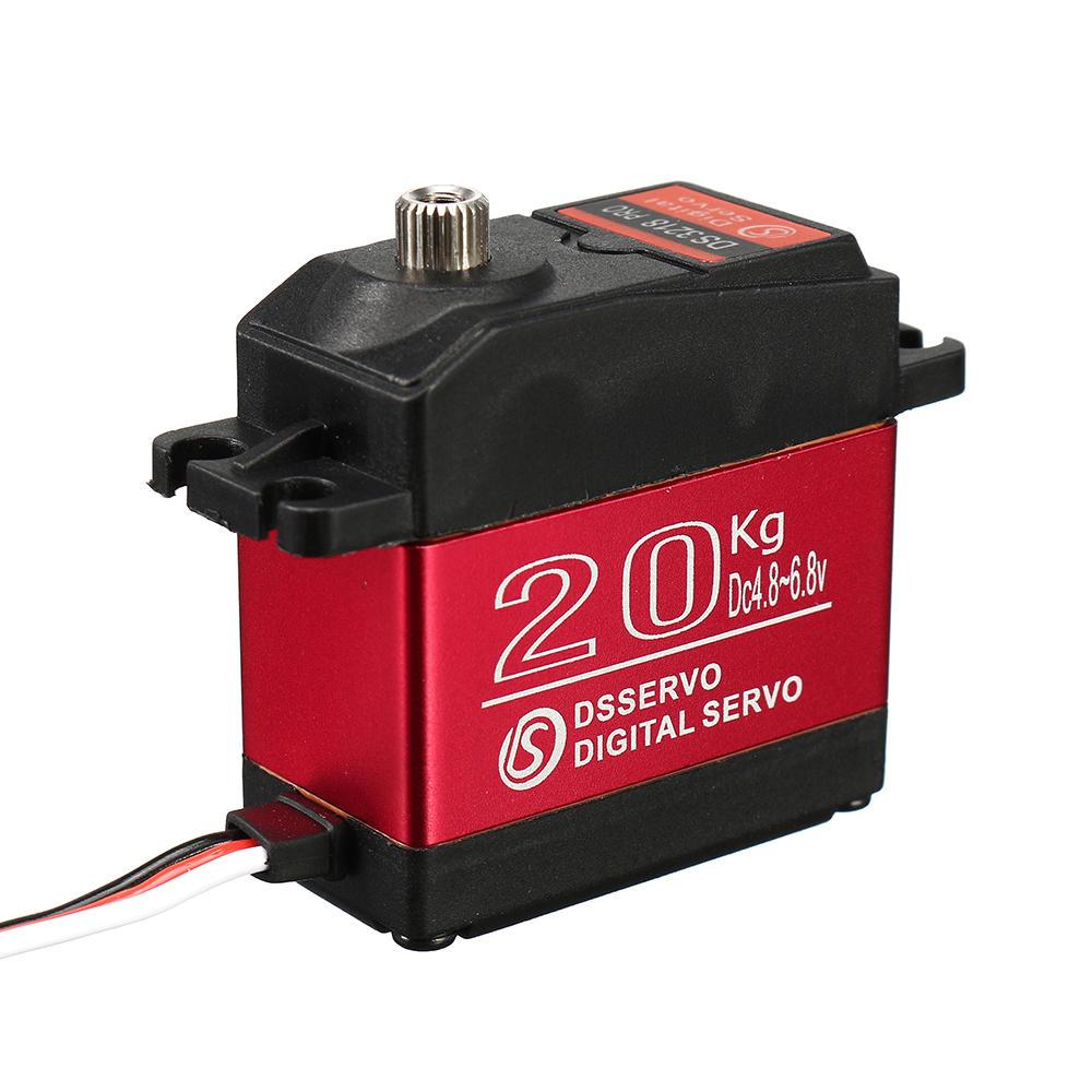 DSSERVO DS3218 PRO 20KG 180° 270° Waterproof High Speed Metal Gear Digital Servo For 1/8 1/10 1/12 Scale RC Cars