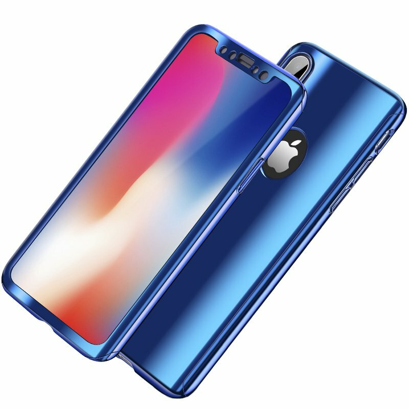 Bakeey Plating 360 ° Full Body Case + Tempered Glass Film For iPhone XR / XS/XS Max / X / 8/8 Plus/7/7 Plus / 6s / 6s Plus/6/6 Plus
