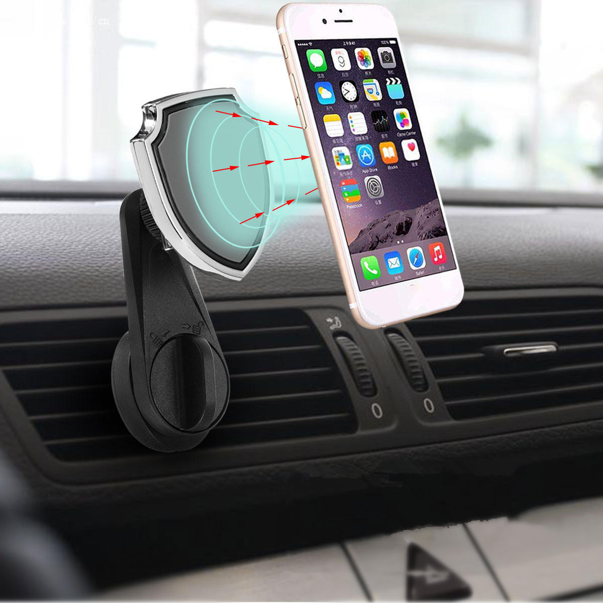 2fee1c617f3e2f Universal Car Air Vent Magnetic Mount Outlet Holder Phone Stand for iPhone  Samsung Xiaomi Huawei COD