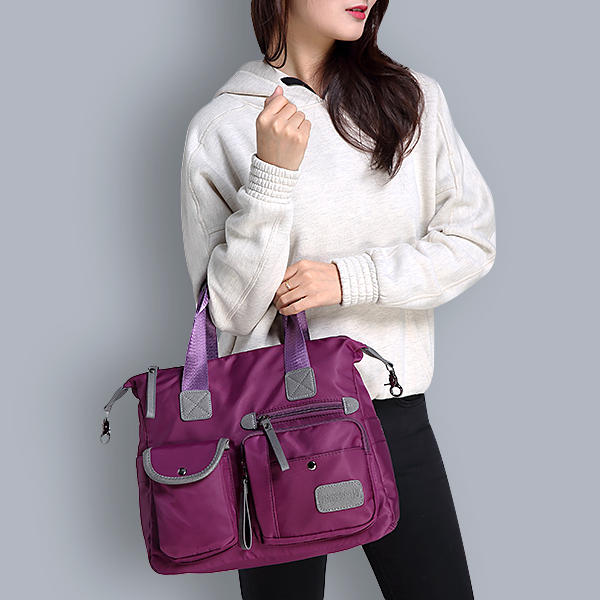 Women Nylon Waterproof  Large Capacity Multi Pocket Multifunction Handbag  Crossboby Bag