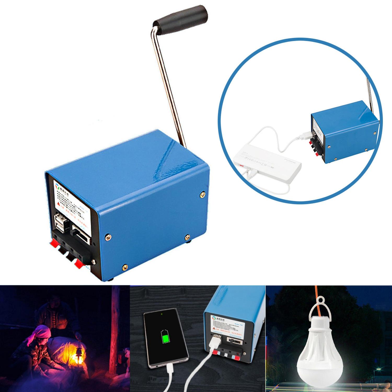 IPRee® venkovní 20W ruční ruční klikový generátor DIY USB elektrický dynamo Power Emergency Telefonní nabíječka
