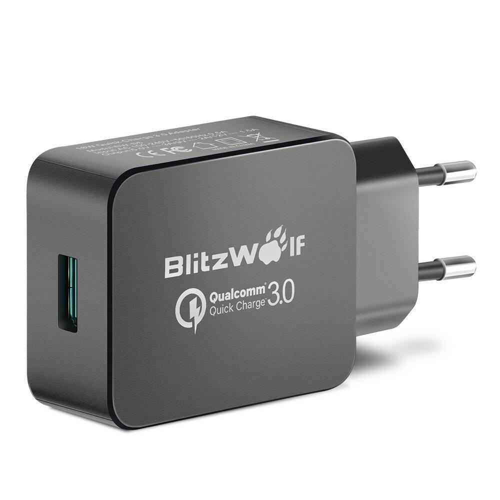 [Qualcomm Certified BlitzWolf® BW-S5 QC3.0 18W USB Charger Adaptor EU Dengan Power3S Tech
