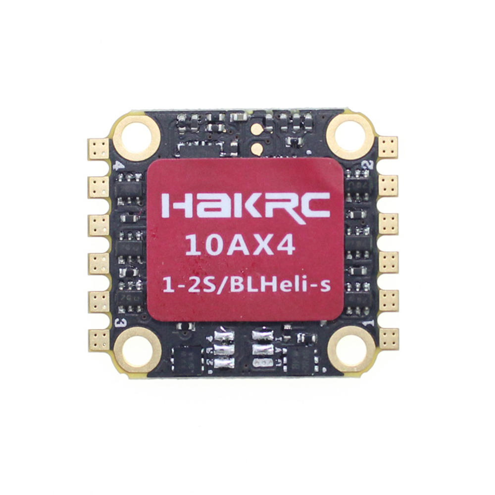 HAKRC HK10AX4 BLHeli_S 10A 1-2S 4 in 1 ESC Dshot600 for RC FPV Racing Drone