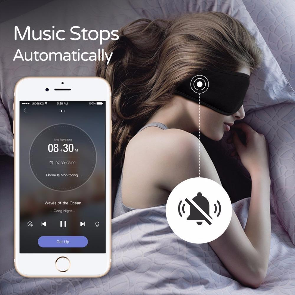 XIAOMI Sleepace Sleep cuffia Comodo lavabile Eye Maschera Smart App Sound Blocking Noise Cancelling Controllo Auricolare remoto