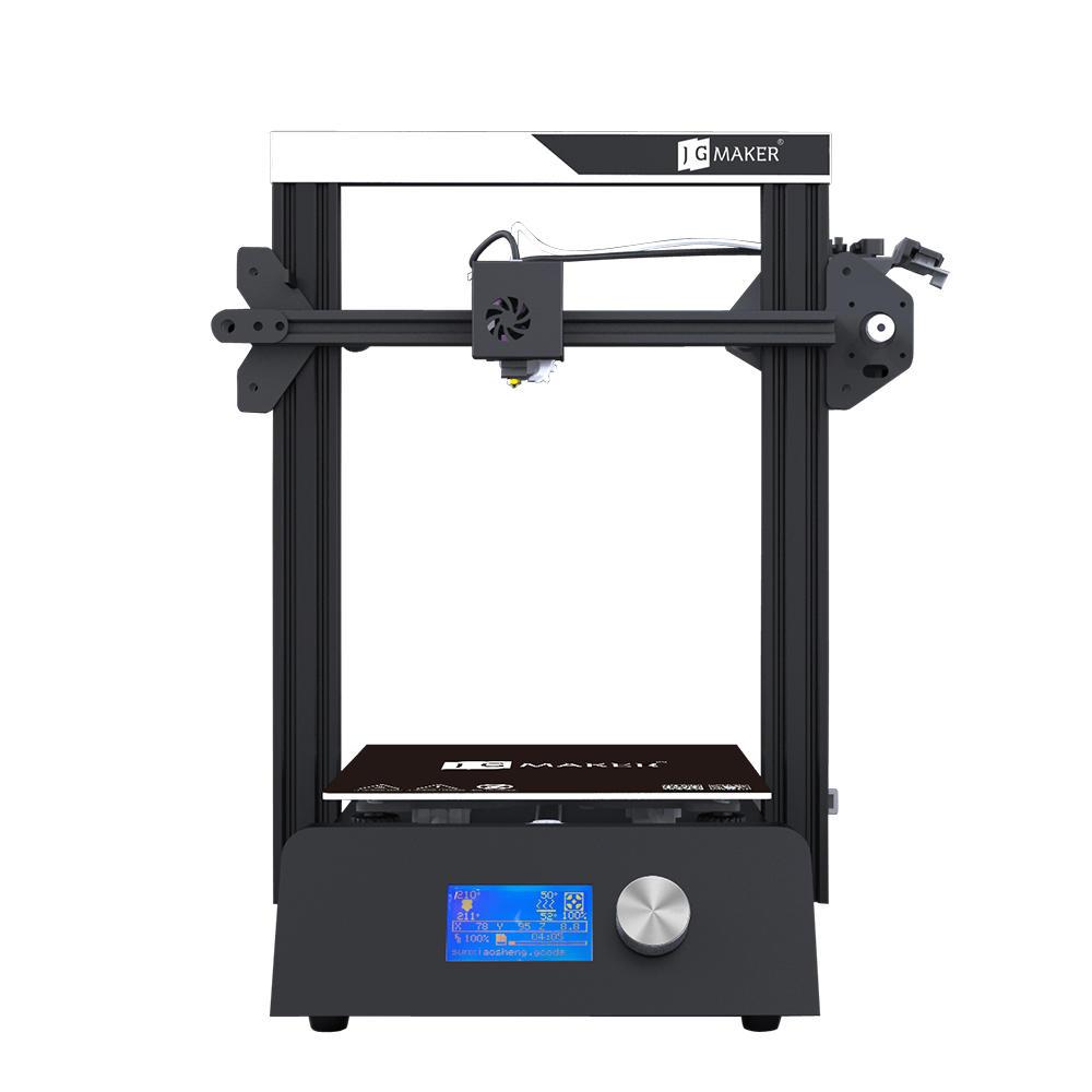 Kit stampante desktop 3D JGAURORA® Magia 220 * 220 * 250mm Supporto volume di costruzione Filamento Rilevamento esaurimento / Ripristino dell'alimentazione / Scheda SD Protezione accidentale della spina con piattaforma speciale FA