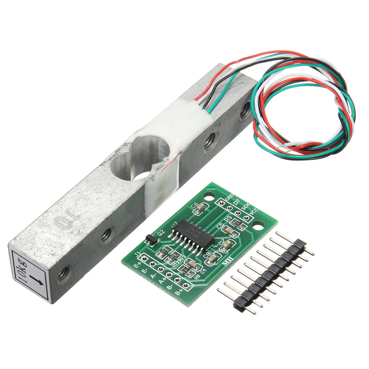 10kg Aluminum Alloy Small Scale Weighing Pressure Sensor With HX711 AD Module