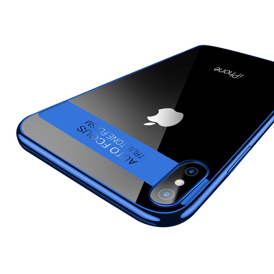 Bakeey Plating Transparent Soft TPU beskyttelsesveske til iPhone X