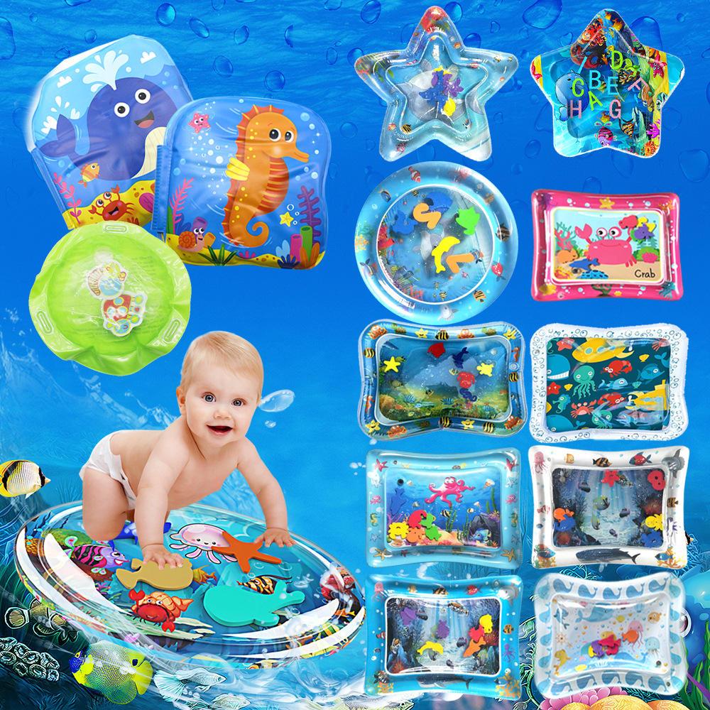 Mainan Air Tiup Bermain Mat Bayi Balita Sempurna Menyenangkan Waktu Bermain Perut