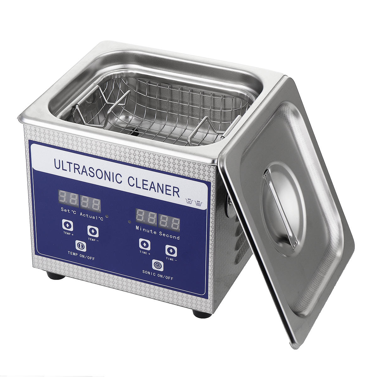 1 3L 60W Digital Ultrasonic Cleaner Ultra Sonic Bath Cleaning Temperature  Adjustable Timer Tank