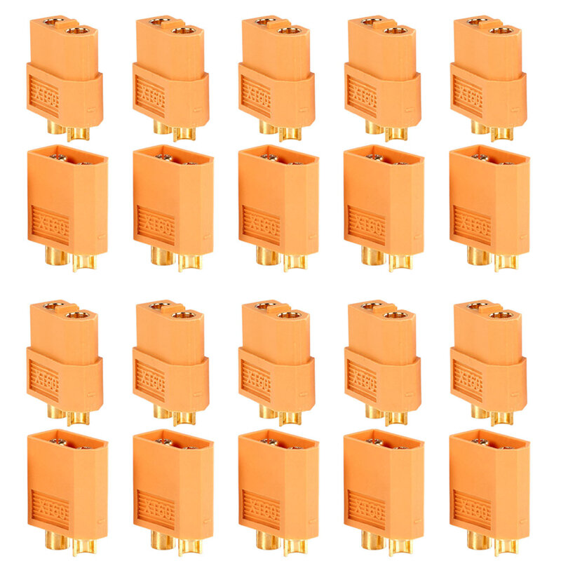 Banggood coupon: 10Pairs/20pcs XT60 Plug Male Female Bullet Connectors For RC Drone Multirotor FPV Racing Battery