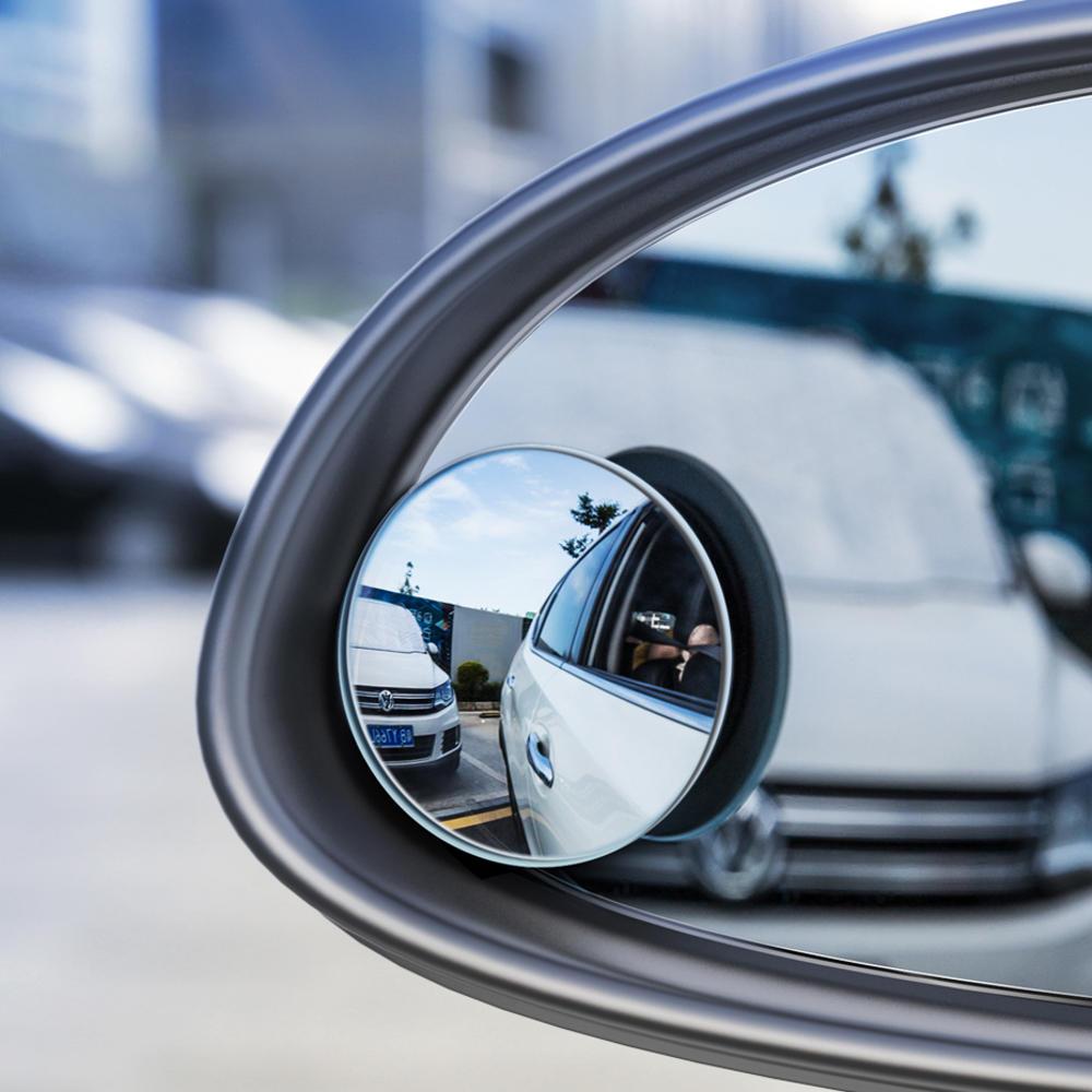 Baseus 2 szt. 49mm lusterka samochodowego, oślepiona, HD wypukła, 360 °, szerokokątna, pomocnicza lustro