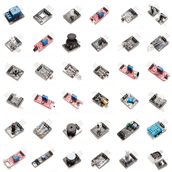 Arduino scm & diy Geekcreit 37 In 1 Sensor Module Board Set Starter Kits For Geekcreit Arduino - products that work with official Arduino фото