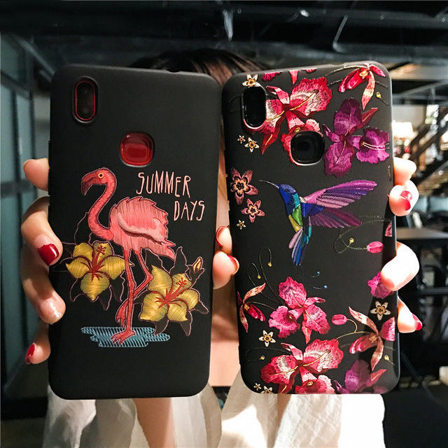 Bakeey Imitation Embroidery Three-Dimensional Relief Soft TPU Protective Case For Xiaomi Mi8 Mi 8