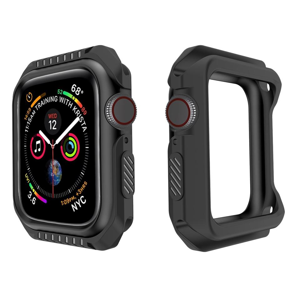 online store caf96 065a8 40/44mm TPU+PC Watch Cover Case Protector Case 40mm 44mm for Apple Watch 4