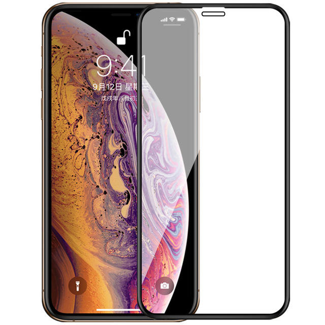 Bakeey Upgrade 2.5D Curved Edge Silk Tempered Glass Screen Protector For iPhone X/XS/XR/XS Max фото