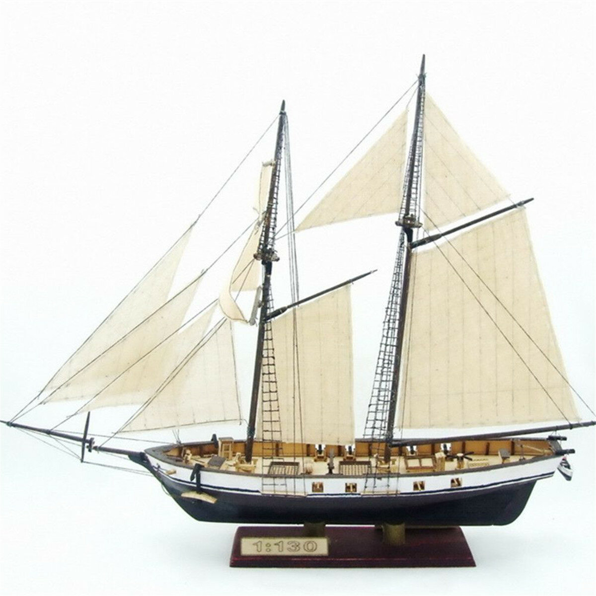 380x130x270mm DIY Ship Assembly Model Kits Classical Wooden Sailing Boats  Scale Model Decoration
