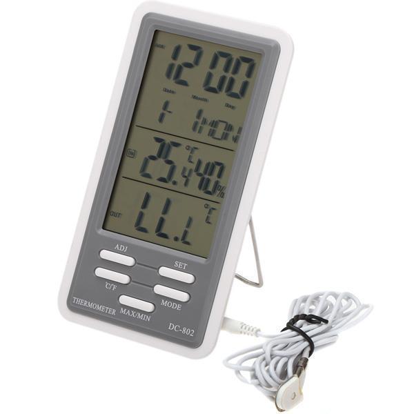 LCD Digital Wireless Thermometer Indoor /& Outdoor Temperature Sensor Meter Home