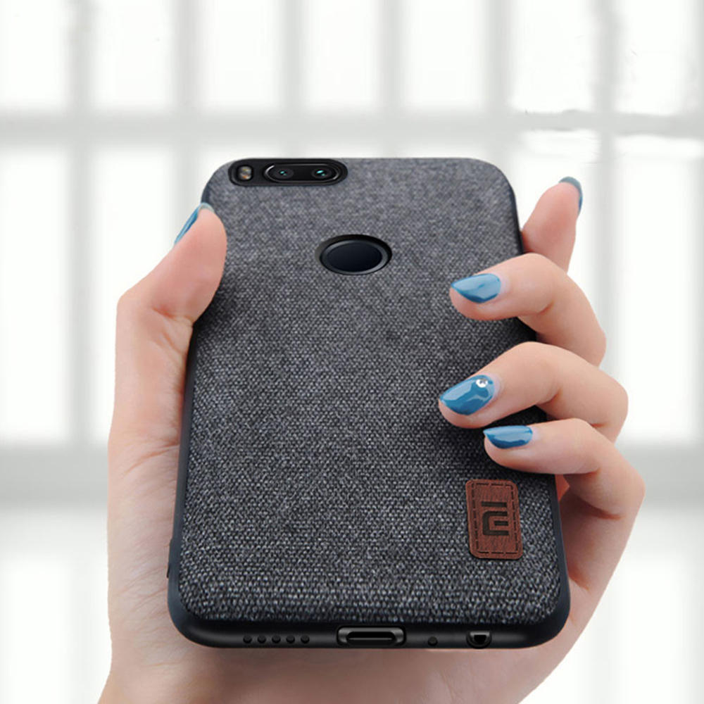 sports shoes 519d1 af9df Bakeey Fabric Splice Soft Silicone Edge Shockproof Protective Case For  Xiaomi Mi 5X / Xiaomi Mi A1
