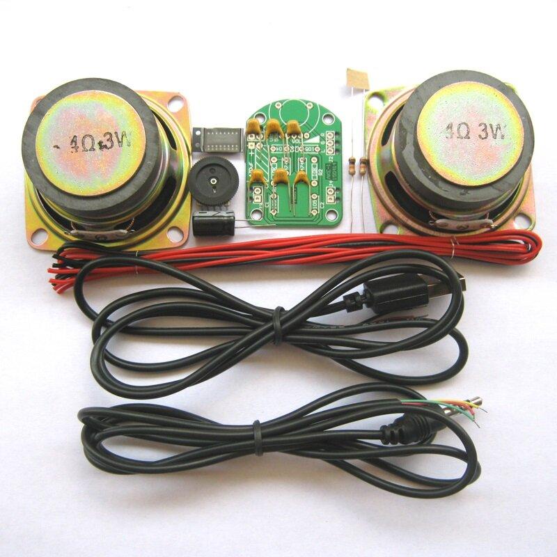 EQKIT 3 Вт Мощность Усилитель Набор Усилитель Производство DIY комплект Детали для малых динамиков Производство электрон