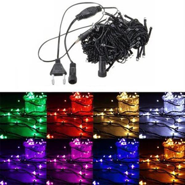 20M 200 LED String Fairy Light Outdoor Christmas Xmas Wedding Party Lamp 220V