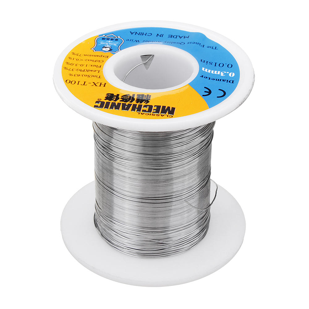 150g 63/37 Tin Lead Rosin Core 0 3mm 1 2% Flux Reel Welding Line Solder  Wire Low Melting Point