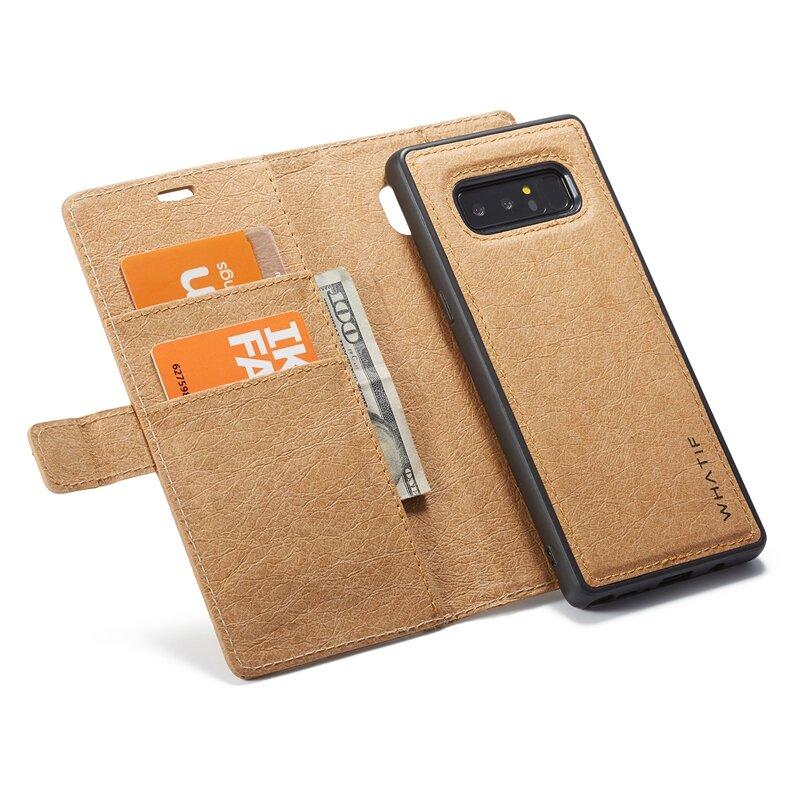 WHATIF Waterproof Kraft Paper Magnetic Detachable Wallet Case For Samsung Galaxy Note 8/S8 Plus/S8/S7 Edge/S7