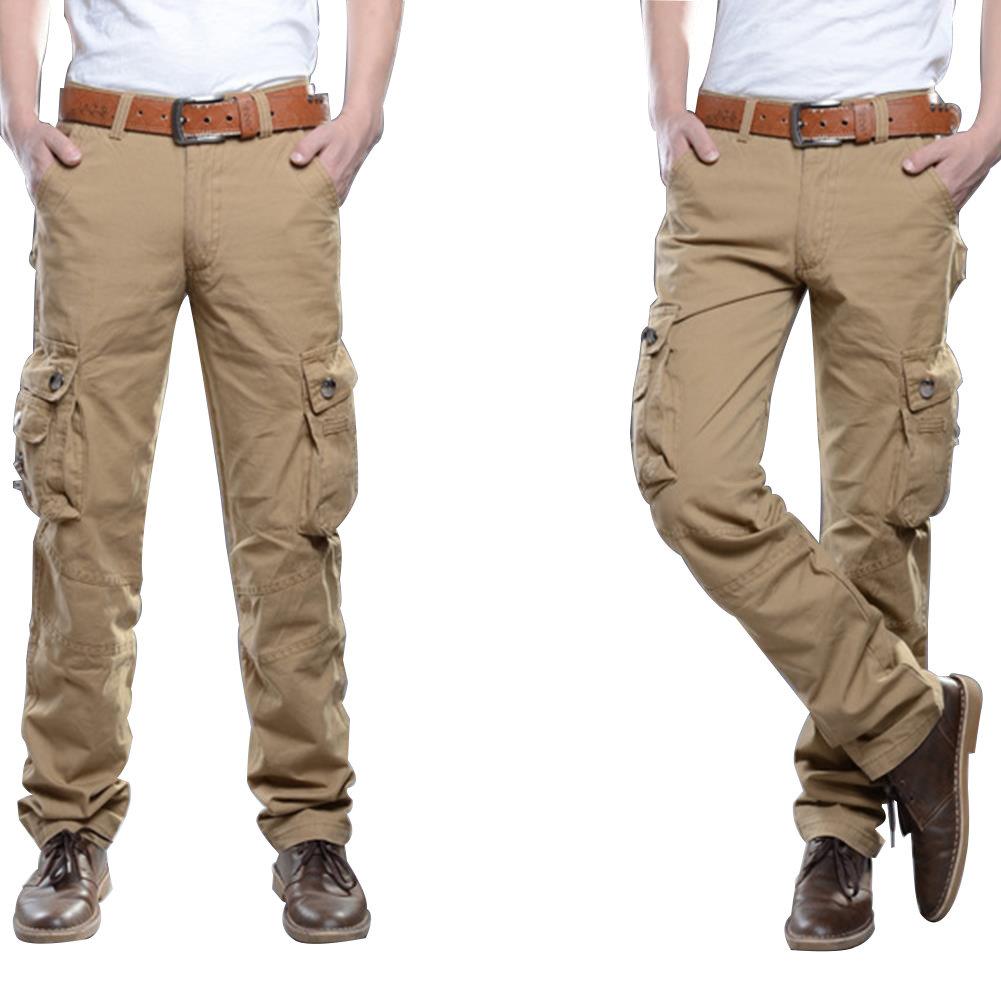 Military Men/'s Elastic Waist Cargo Pants Combat Camo Army Trousers Multi-Pockets