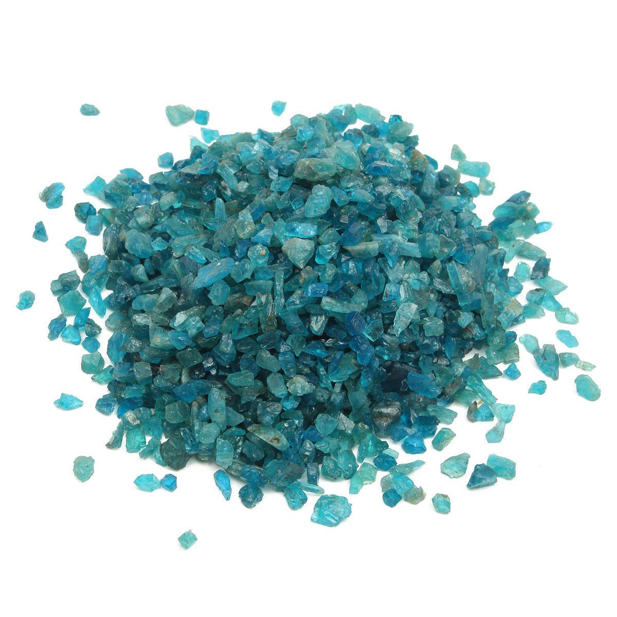Naturale blu apatite pietra verde grezzi minerali impostazioni fai da te 100g