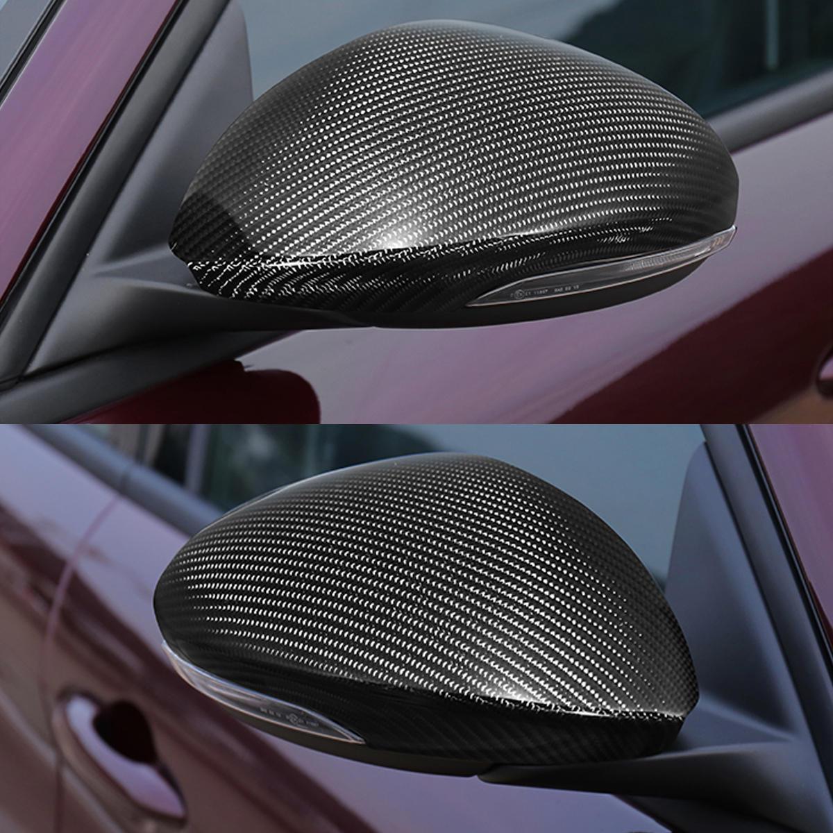 Coppia copri specchietto laterale in fibra di carbonio per Alfa Romeo Giulia Quadrifoglio 17-18
