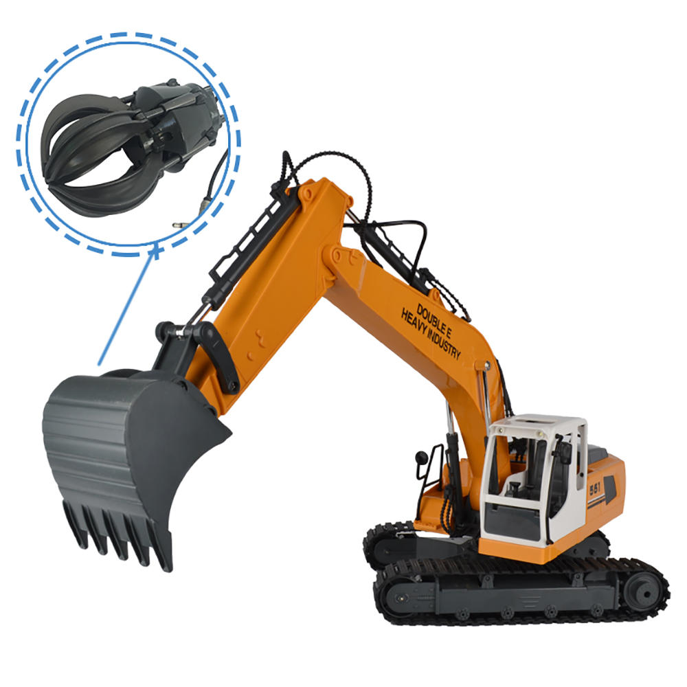 Double E E561-003 RC Excavator Alloy 3 In 1 Engineer Robot Car With Metal Bucket And Dig Hand