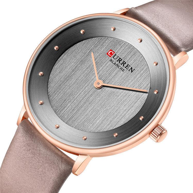 Đồng hồ đeo tay siêu mỏng HIỆN TẠI 9033 Kiểu dáng thạch anh Đồng hồ đeo tay nữ bằng da