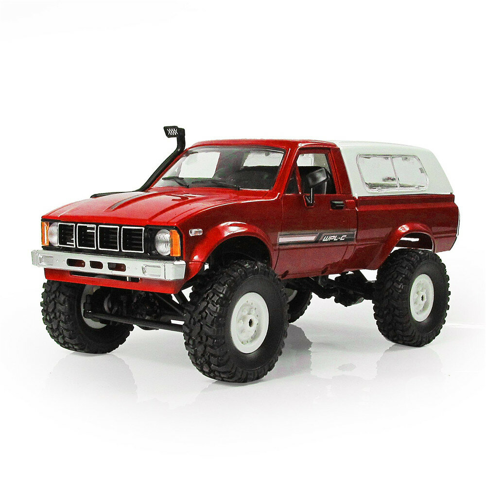 WPL C24 1/16 RTR 4WD 2.4G Military Truck Buggy Crawler Off Road RC Car 2CH Toy
