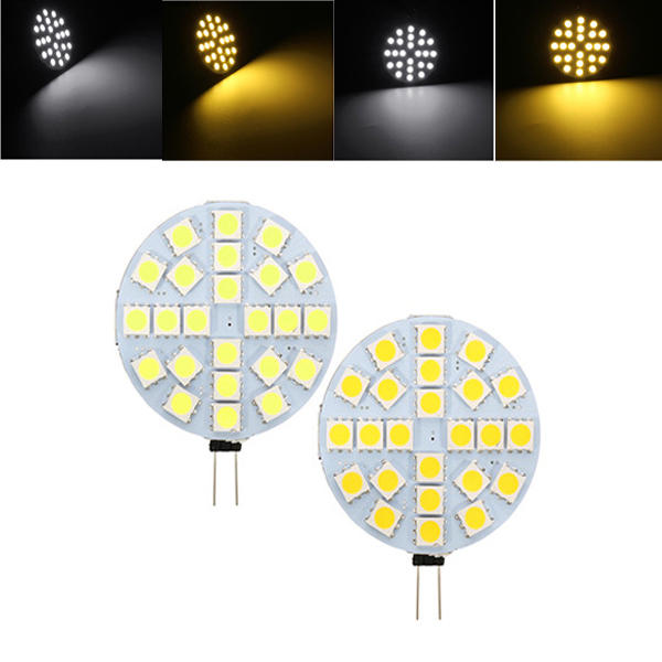 G4 3W Dimmable SMD5050 24 LEDs Warmweiß Pure White Ligth Glühbirne DC12V