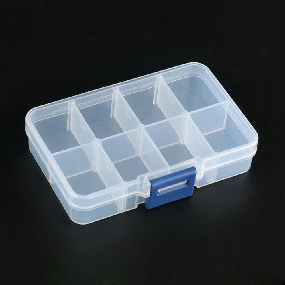 8 Grid Adjustable Electronic Components Project Storage Assortment Box Bead Organizer Jewelry Box Plastic Storage Case
