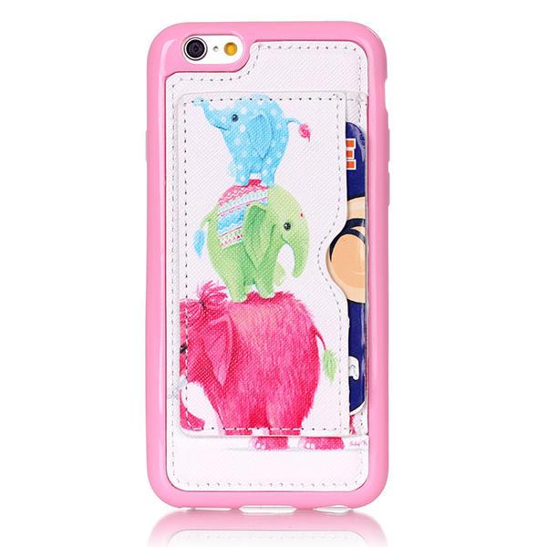Mô hình con voi nhỏ trở lại trường hợp giữ cho iPhone 6 6s