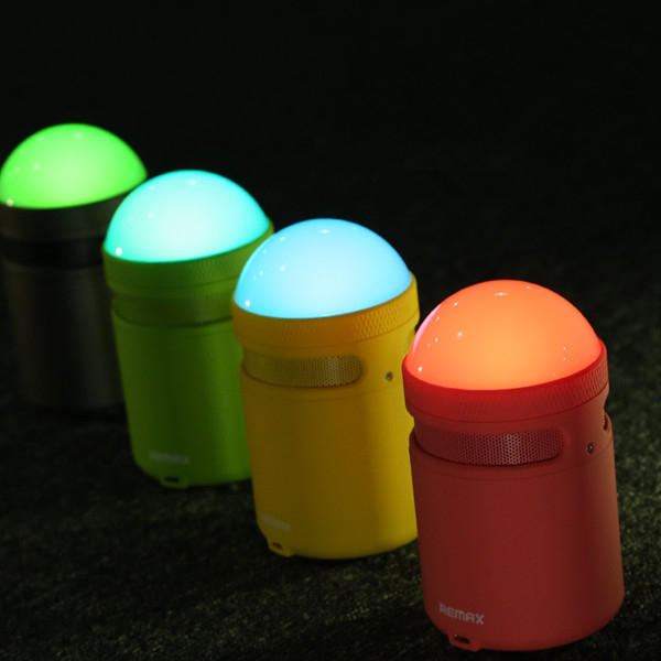 REMAX RB-MM Smart Portable APP Control Eye Protection LED Lamp Wireless bluetooth Speaker With Mic