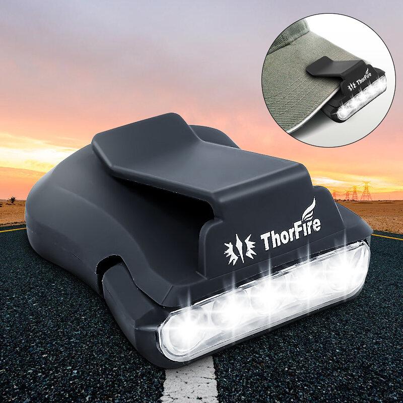 ThorFire 30LM 5-LED Шапка Clip Light Hands Free Поворотный шаровой колпачок Свет козырька Идеально подходит для охоты Ке