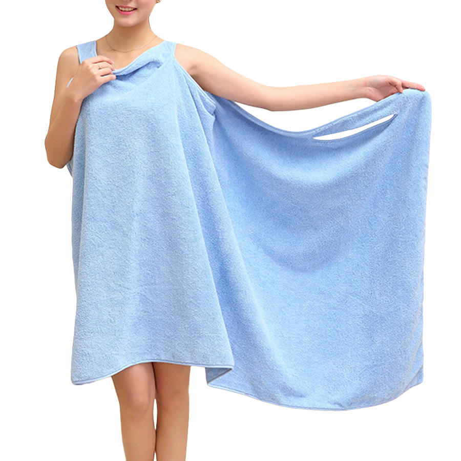 Honana BX-949 Summer Microfiber Soft Beach Able Wear Spa Bath Robe Plush Highly Absorbent Bath Towel Skirt