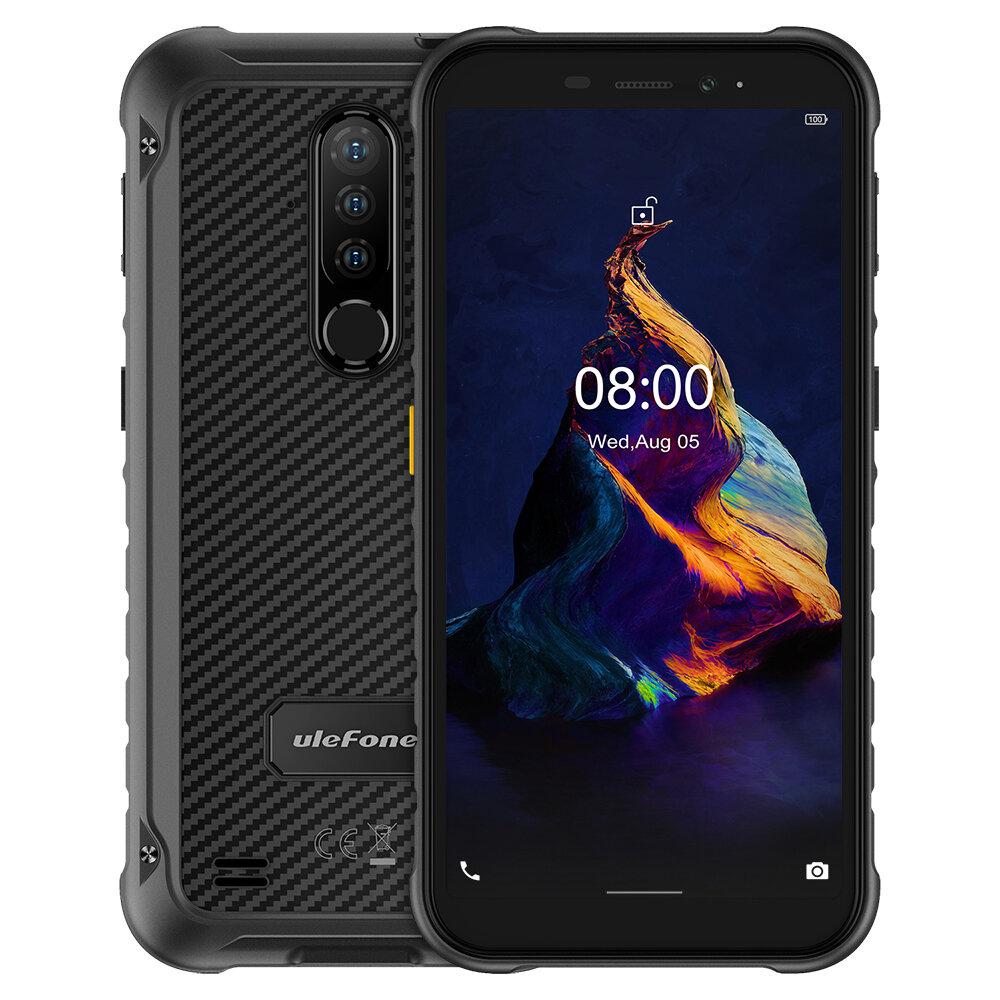 Ulefone Armor X8 IP68 IP69K Waterproof 5.7 inch 4GB 64GB 13MP Triple Rear Camera NFC 5080mAh MT6762 Octa Core 4G Rugged