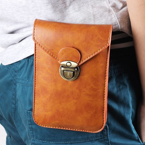 Men's 5.5 Inch Universal PU Belt Clip Bag Waist Bag Phone Pouch For iPhone 7/7 Plus Samsung Xiaomi