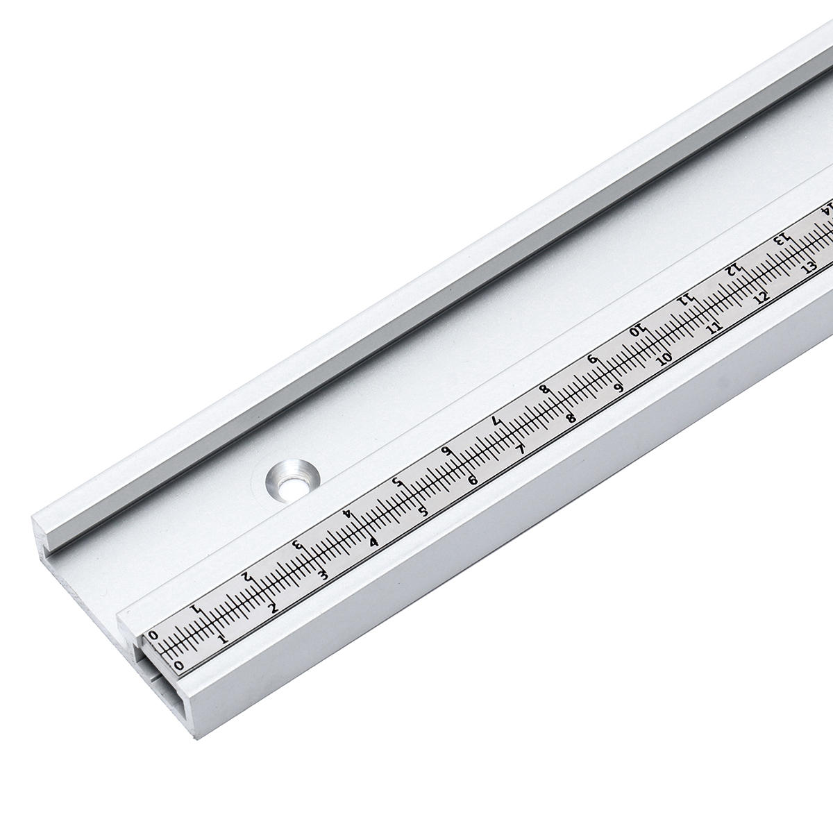 400-1220mm Aleación de aluminio Ranura en T Ranura en T Inglete con corredera Regla métrica Escala para fresadora de mesa Mesa de carpintería herramienta