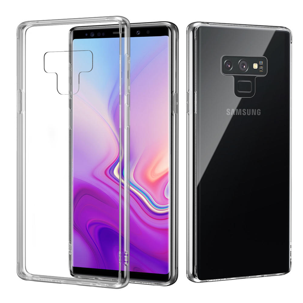 sale retailer 464b7 77533 Bakeey Tempered Glass Case For Samsung Galaxy Note 9/S9/S9 Plus Clear  Transparent Back Cover
