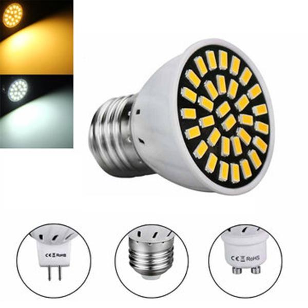 MR16/E27/GU10 LED Bulb 24 SMD 5733 480LM Pure White Warm White Spot Lightt Bulb 4.8W AC220V