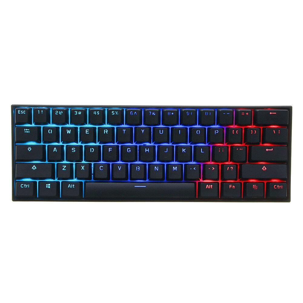 [Gateron Interruptor] Anne Pro 2 60% NKRO bluetooth 4)0 Type-C RGB Mecânico Teclado Para Jogos