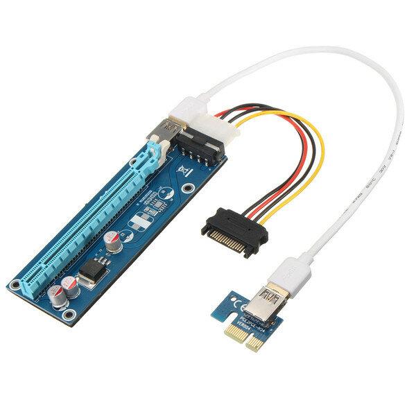 0,6 m USB 3.0 PCI-E 1x a 16x Placa gráfica cabo estendido adaptador de placa para mineração