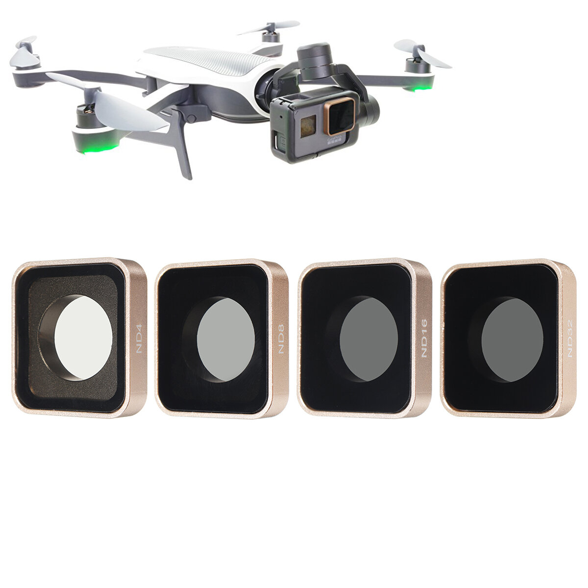 ND4 ND8 ND16 ND32 Lens Filter Kit Replacement For Gopro Hero 5 6 Black Sport Camera