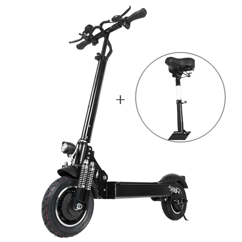 Lutedrive L10 2000W Dual Motor 23.4Ah 10 Inches Folding Electric Scooter with Seat 70km/h Top Speed 80km Mileage Range M
