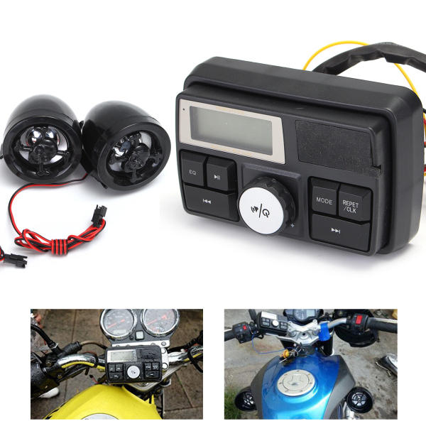 Motorcycle Handlebar Stereo System Radio Amplifier MP3 Speakers with Bluetooth Function US Warehouse