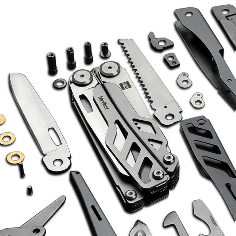HUOHOU Multi-function Cutter 15 Functions Folding Bottle Opener Screwdriver / Pliers  / Scissor / Wood Saw Tools Kit from xiaomi youpin